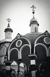 Church Domes in Trinity Sergius Lavra Stock Photography