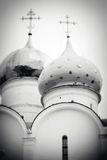 Church Domes in Trinity Sergius Lavra Royalty Free Stock Images
