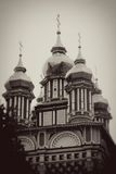 Church Domes in Trinity Sergius Lavra Royalty Free Stock Photography