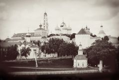 Church Domes in Trinity Sergius Lavra, Sergiev Posad, Russia. Royalty Free Stock Photo