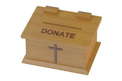 Church Donation Box Stock Photo