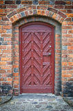 Church Door 02. An arched doorway to a gothic style church Stock Photography