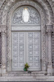 Church Door. Ornate entry to an old church in San Francisco Stock Photography