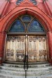 Church Door. Door to the church in Cambridge Stock Photo