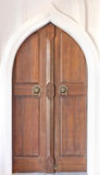 Church door. Close up Thai carved doors Stock Photography