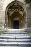 Church door. A church door with stairs Royalty Free Stock Photo