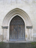 Church Door. Old Wooden Door to English Church royalty free stock photos
