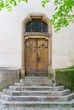Church door. The back door to the church in Bohemia Stock Photos