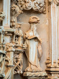 Church door carving details. Of the Convento de Cristo, Tomar Royalty Free Stock Images