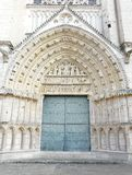 Church Door At A Cathedral In France stock images
