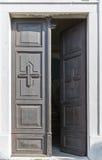 Church door closeup in Smartno medieval village, Slovenia. Stock Images