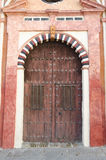 Church door. In Cordoba, Spain Royalty Free Stock Photography