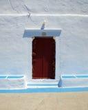 Church door in a Greek island Royalty Free Stock Photography