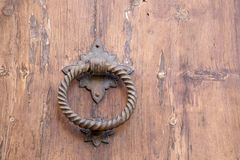 Church Door Handle, Pollenca, Majorca. Spain Royalty Free Stock Images