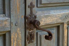 Church door lock Stock Image
