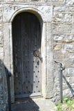 Church door Meavy Village Church. Located on Dartmoor national Park Devon UK Stock Photo