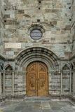 The Church door of the The Sacra di San Michele Royalty Free Stock Photo