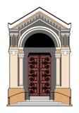 Church door. Vector illustration of a church door, file EPS 8 Royalty Free Stock Image