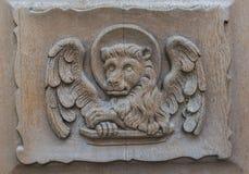 Church Door Walluf Lion Marcus Stock Photo