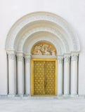 Church door way and  thai art church door texture Royalty Free Stock Photos
