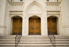 Church doors. This is three old church doors Royalty Free Stock Photo