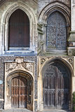 Church doors. Old wooden church doors from norwich Royalty Free Stock Photography