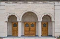 Church doors Stock Images