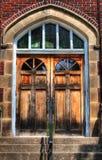 Church Doors. HDR photo of wooden church doors Royalty Free Stock Photos