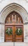 Church doors. In Chicago suburbs Royalty Free Stock Photos