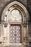 Church doors in Prague. (Vysehrad Royalty Free Stock Image