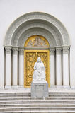 Church doorway Stock Images