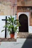 Church doorway, Torrox. Royalty Free Stock Image