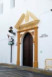 Church doorway, Vejer de la Frontera. Royalty Free Stock Image