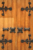 Church doorway with wooden doors Royalty Free Stock Photography