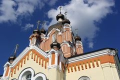 Orange Christian church royalty free stock photos