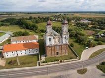 Church in Dotnuva, Lithuania. stock photo