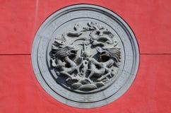 Church dragon wall Stock Photography