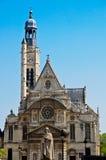 church du etienne mont巴黎圣徒 免版税库存照片