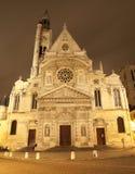 church du Etienne mont νύχτα Παρίσι ST Στοκ εικόνα με δικαίωμα ελεύθερης χρήσης