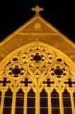 Church in Dublin, Ireland. Decorative church window in Dublin, Ireland stock images