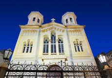 Church in Dubrovnik (Croatia) at night Stock Photo