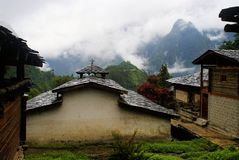 The Church in the Dulong nationality area. Yunnan Nationalities Cottage usually be built in tourism scenic spots with beautiful environment and long cultural Stock Photography