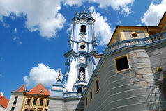 Church in Durnstein. Collegiate church of durnstein with the famous blue tower,Austria,Europe Royalty Free Stock Photo