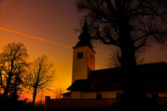 Church at dusk Stock Photography