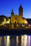 Church  in early morning. Sitges Stock Images