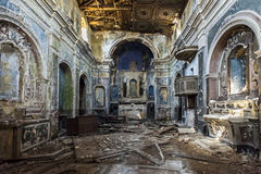 Church after earthquake Stock Photography