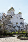 The Church on Easter. The world and the Church. The Church with Golden domes, bright Sunny day, blue sky Stock Images