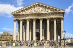 Church Eglise de la马德琳在巴黎 免版税图库摄影