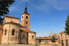 Church of El Salvador, Sepulveda. Segovia province, Castilla-Leo. View of Church of El Salvador, Sepulveda. Segovia province, Castilla-Leon, Spain Royalty Free Stock Image