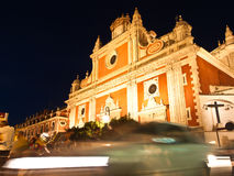 The Church of El Salvador in Sevilla, Spain. By night Royalty Free Stock Photos